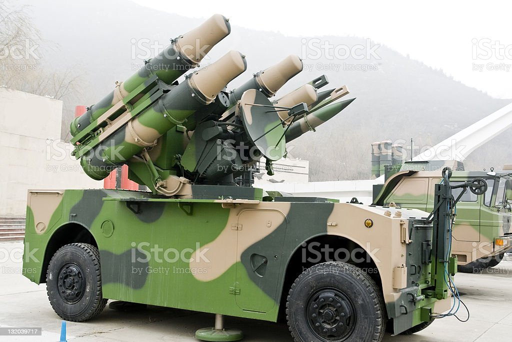ground-to-air missile vehicle royalty-free stock photo