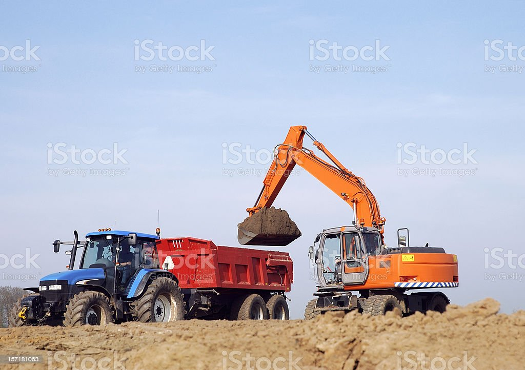 Groundwork royalty-free stock photo