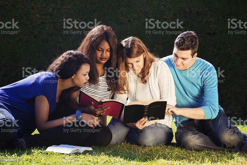 Group Bible Study stock photo
