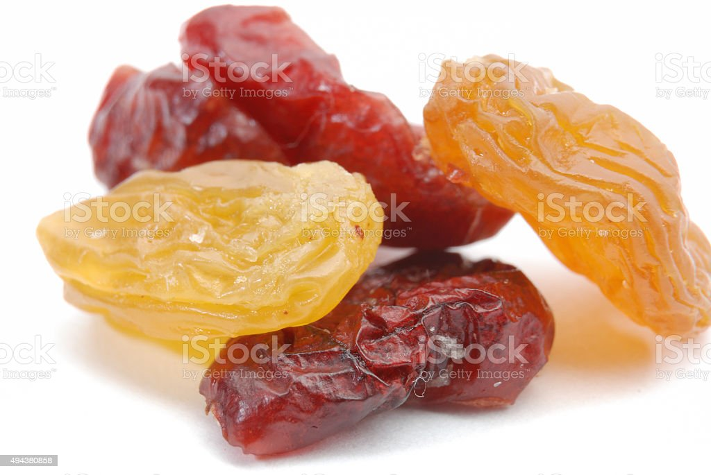 Group browh raisin and Cranberries stock photo