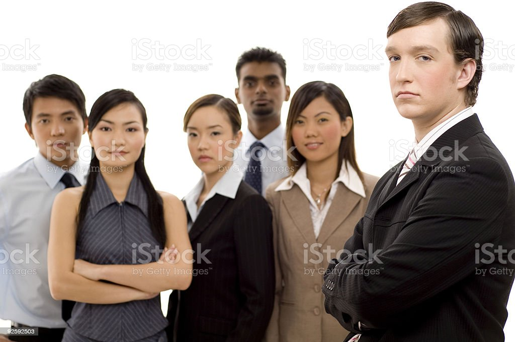 Group Business Leader 1 royalty-free stock photo