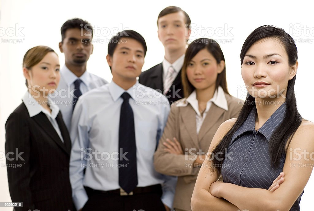 Group Business Leader 4 royalty-free stock photo