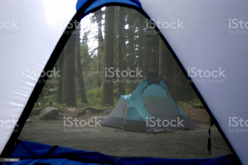 Group camping royalty-free stock photo