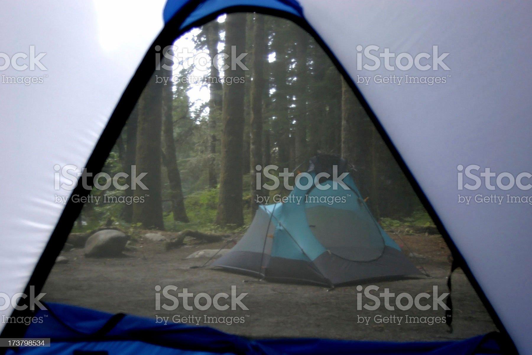 Group camping royalty-free stock photo