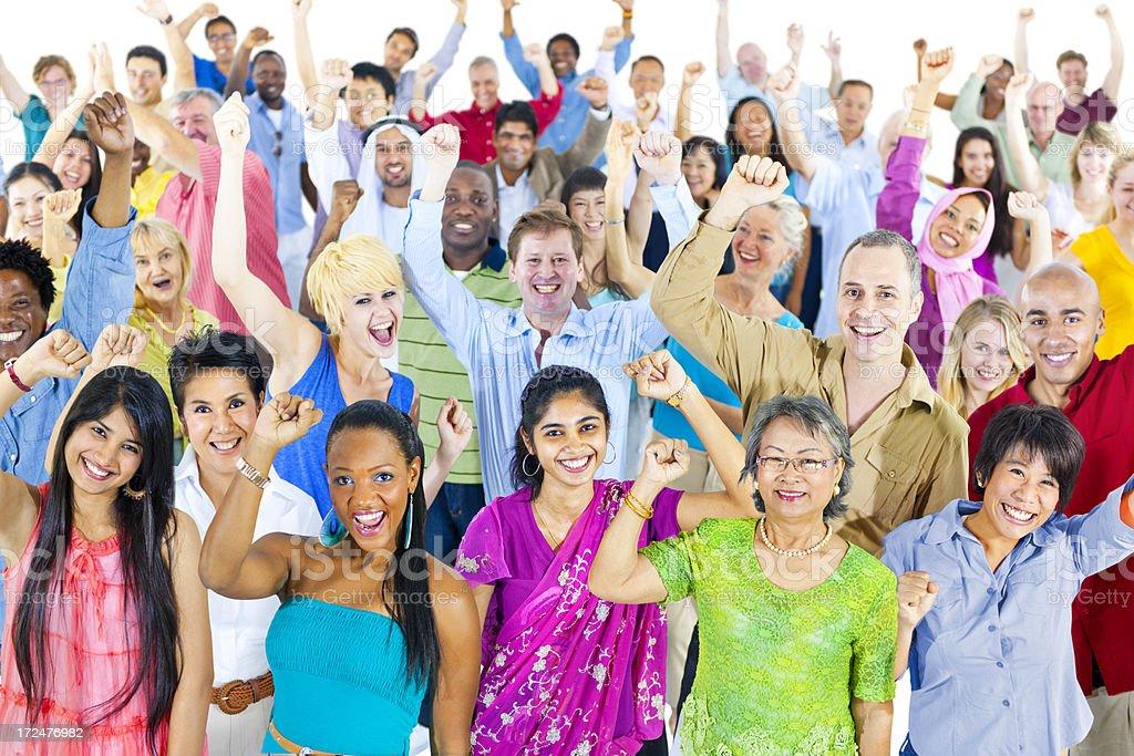 Group celebration of ethnic groups royalty-free stock photo