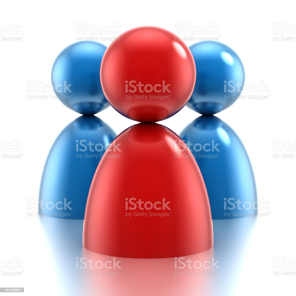 Group concept, 3d icon style w clipping path royalty-free stock photo