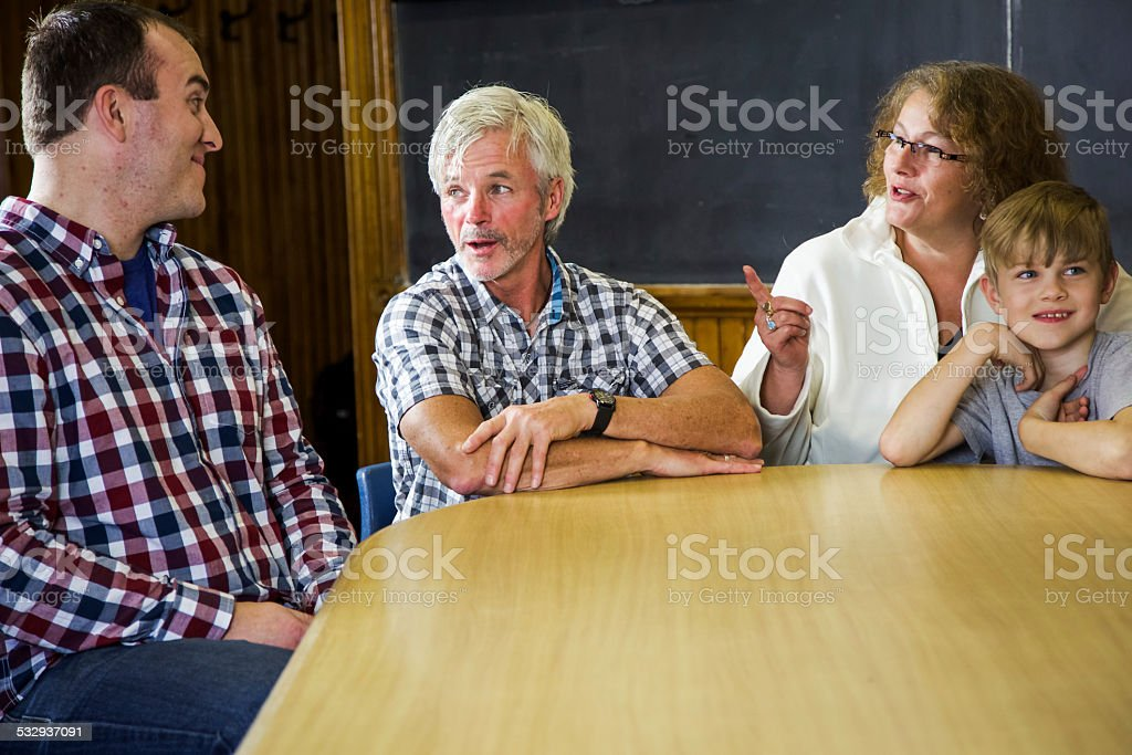 Group Conference, Counseling or Meeting stock photo