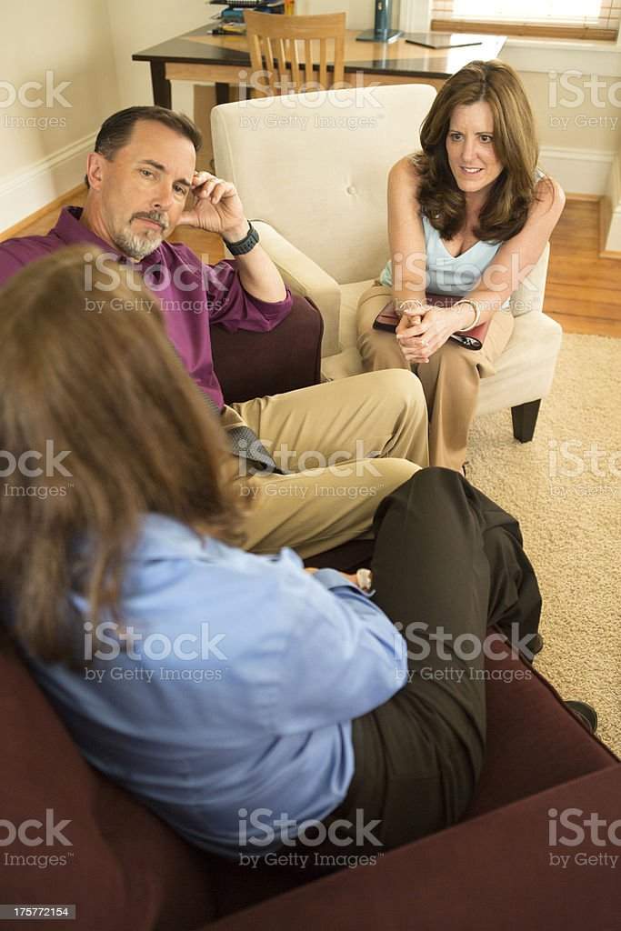 Group Counseling Session royalty-free stock photo