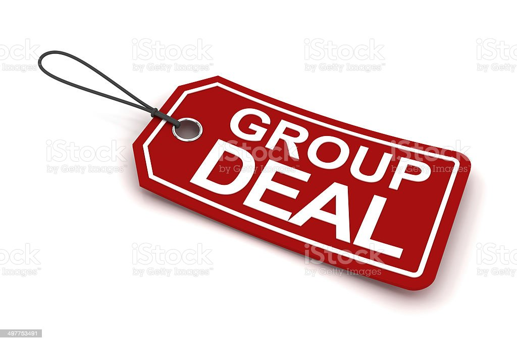 Group deal tag, 3d render royalty-free stock photo