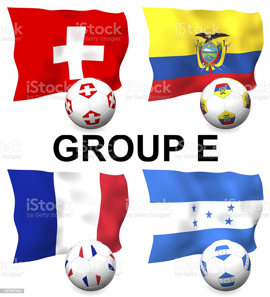 Group E Football stock photo