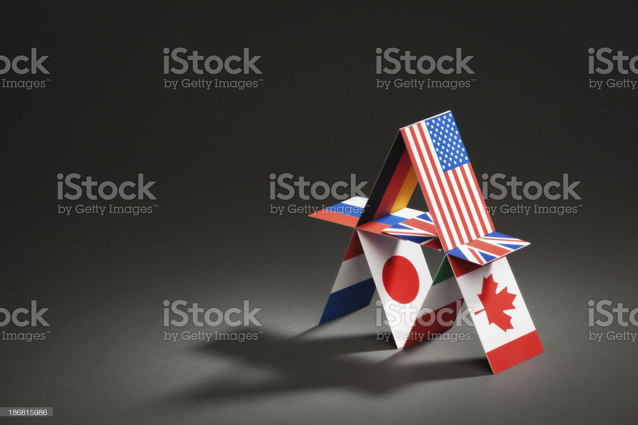 G8 Group Eight Nations Global Economic House of Cards Hz.jpg royalty-free stock photo