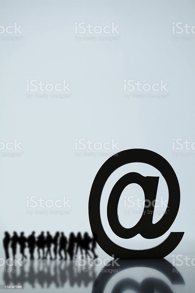 Group email royalty-free stock photo