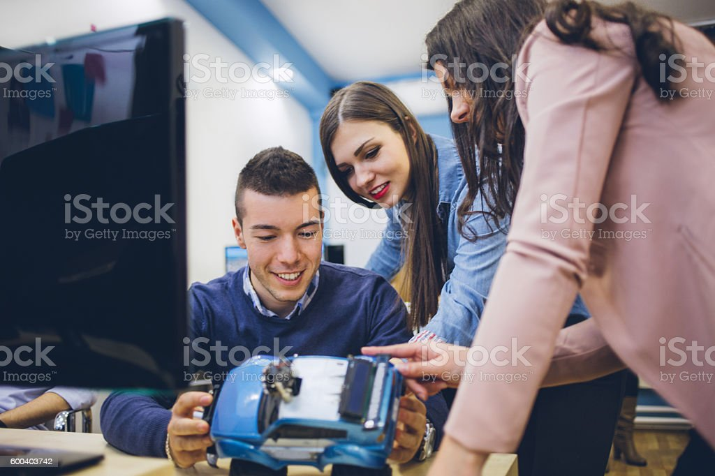 Group Engineering Project stock photo
