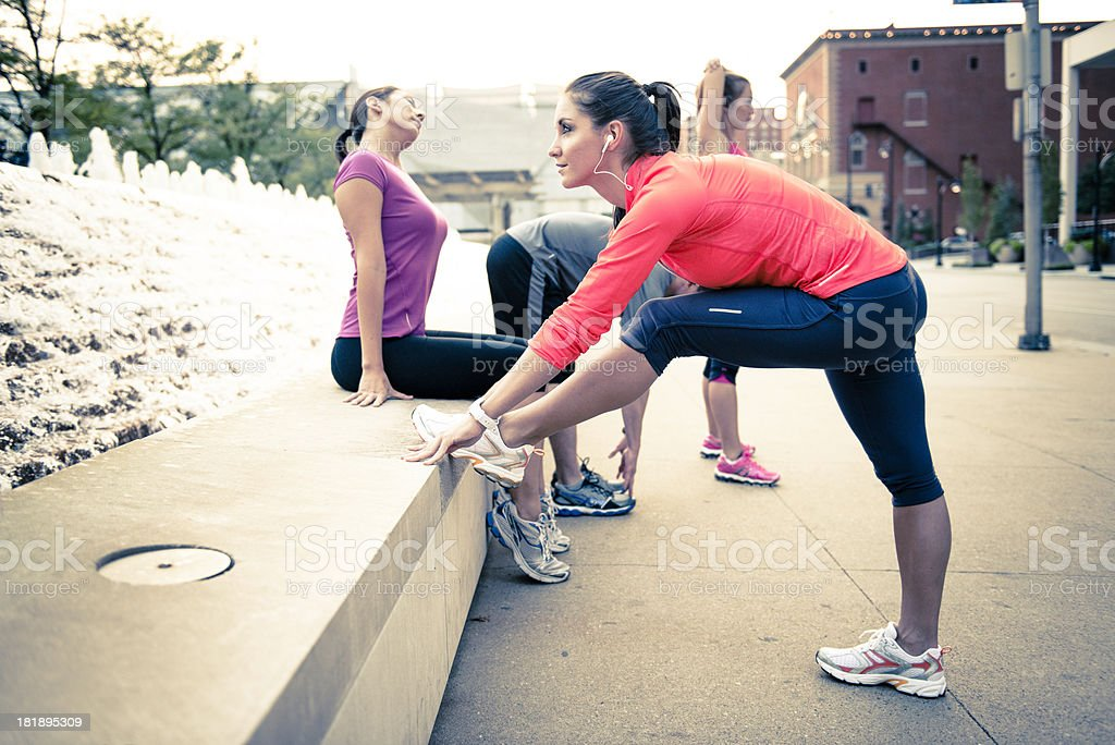 Group Exercise royalty-free stock photo