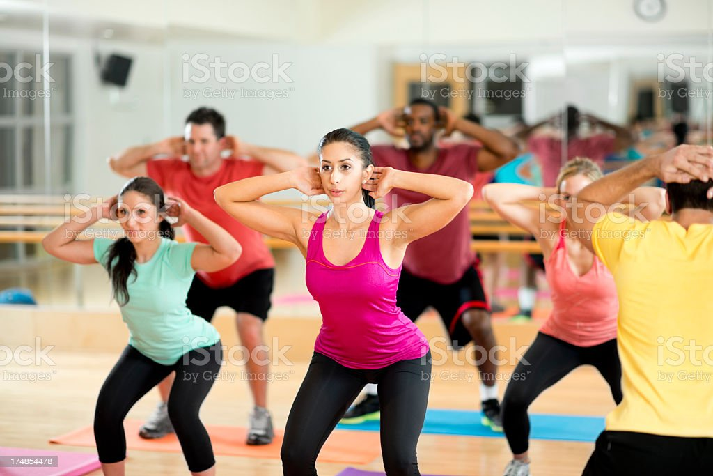 Group Fitness Class royalty-free stock photo
