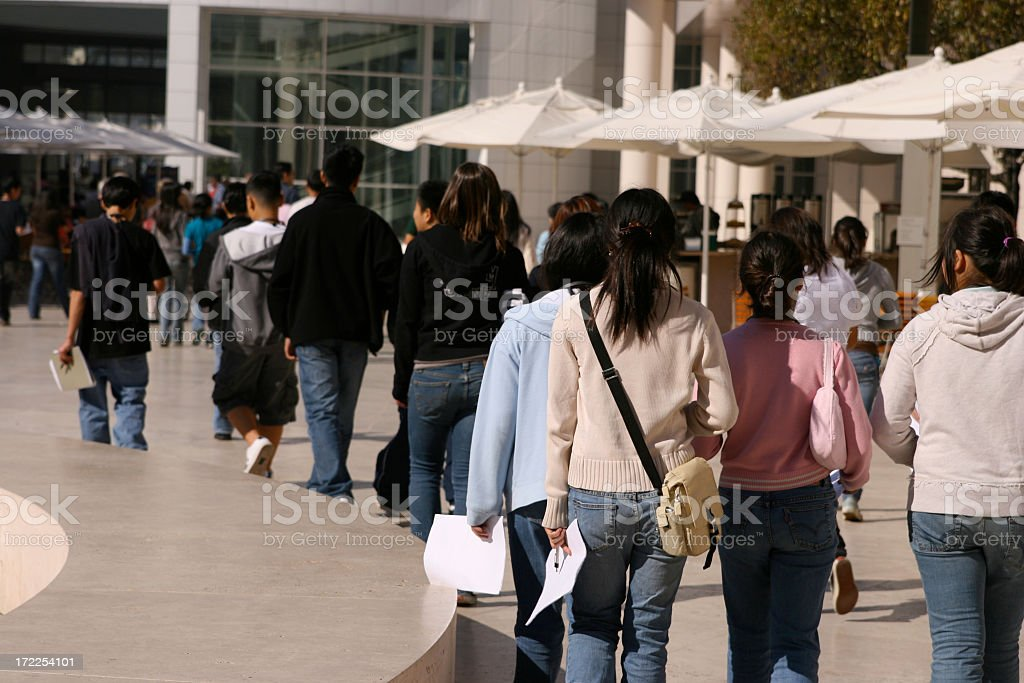 Group Going Home royalty-free stock photo