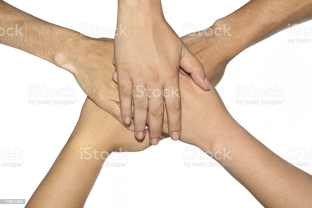 Group  hand. royalty-free stock photo