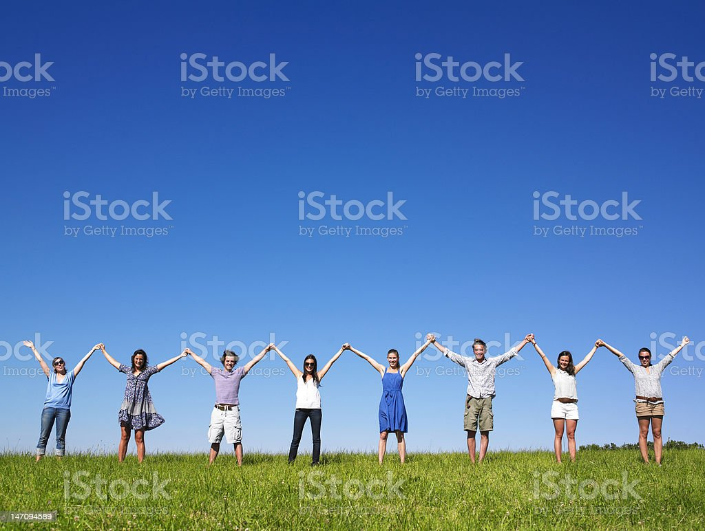 Group Holding Hands stock photo