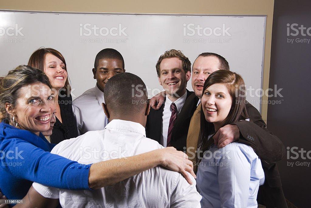 Group hug stock photo