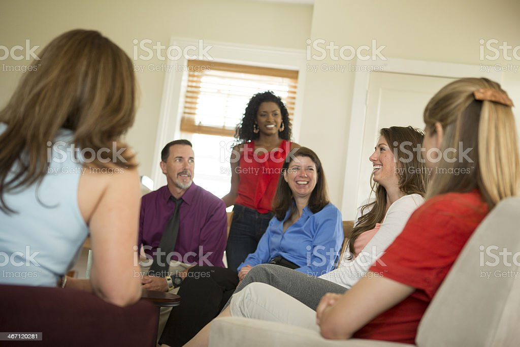 Group in Counseling Session royalty-free stock photo