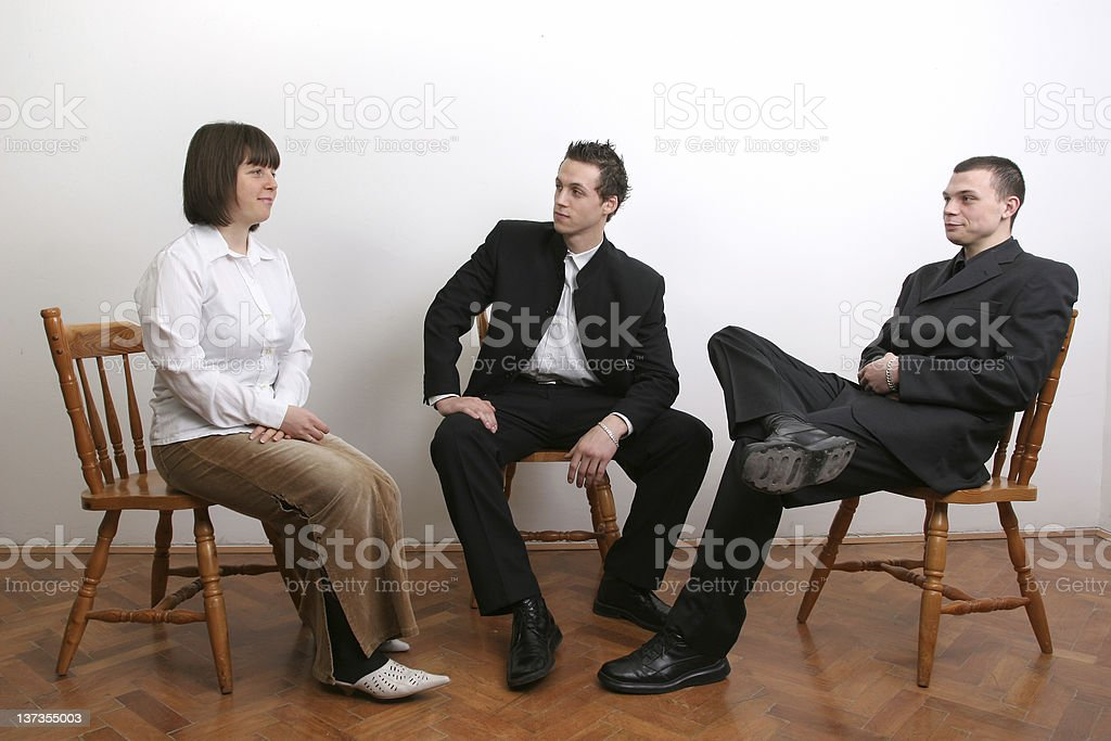 Group in discussion royalty-free stock photo