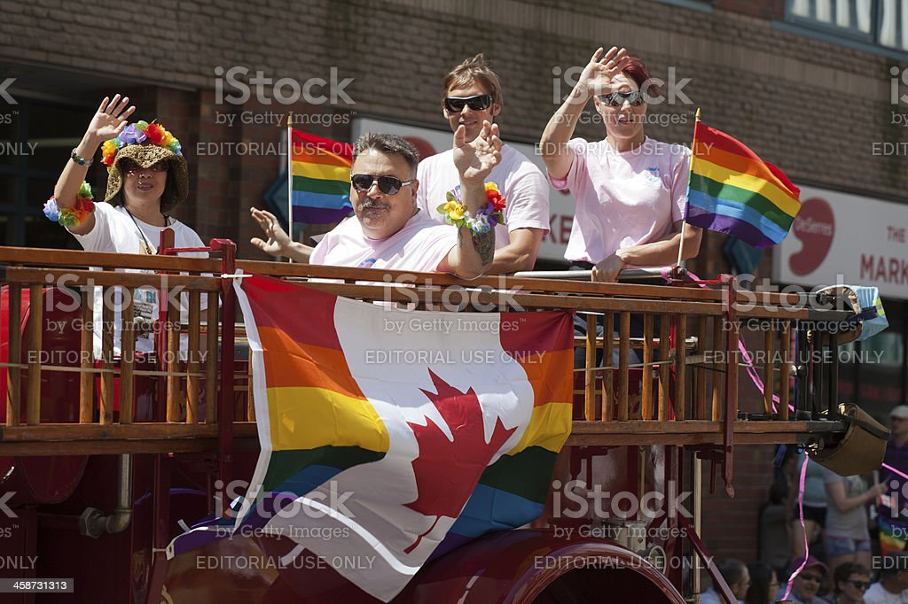 Group in Pride Parade 2012 stock photo