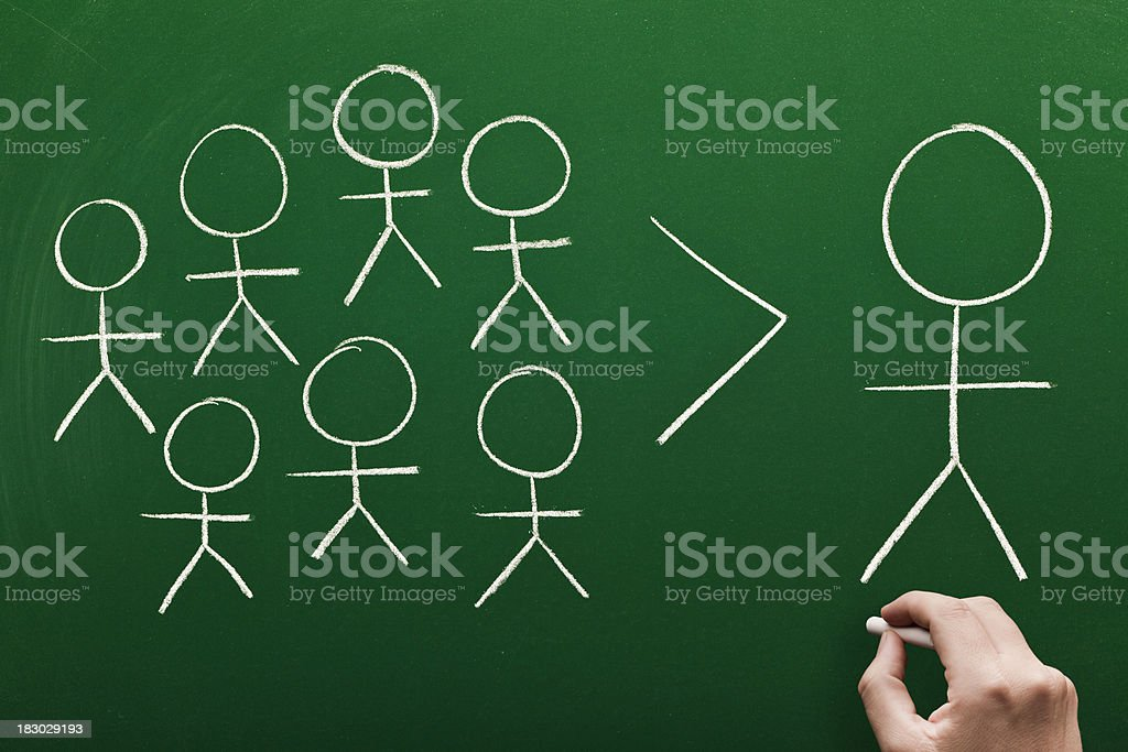 group is more than an individual stock photo