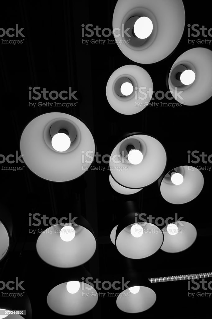 Group Light lamp black and white background
