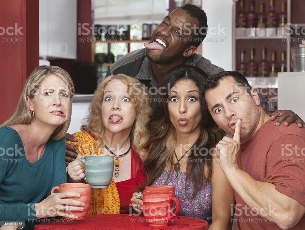 Group Making Funny Faces royalty-free stock photo
