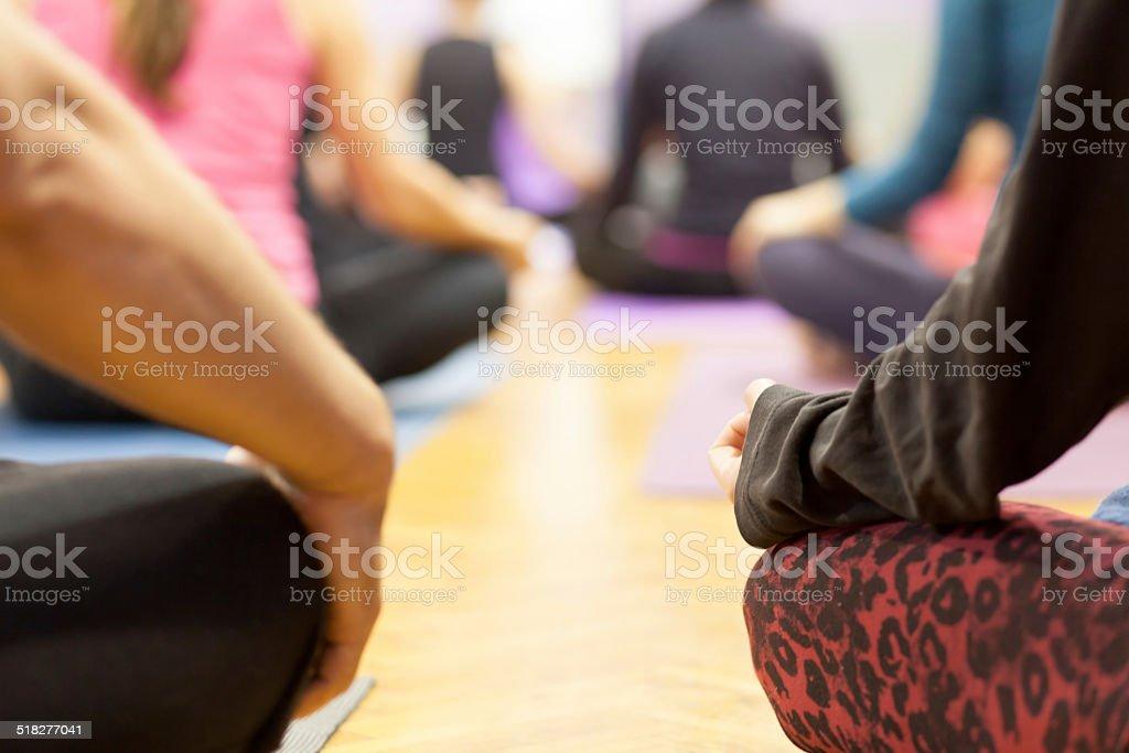 group meditation stock photo