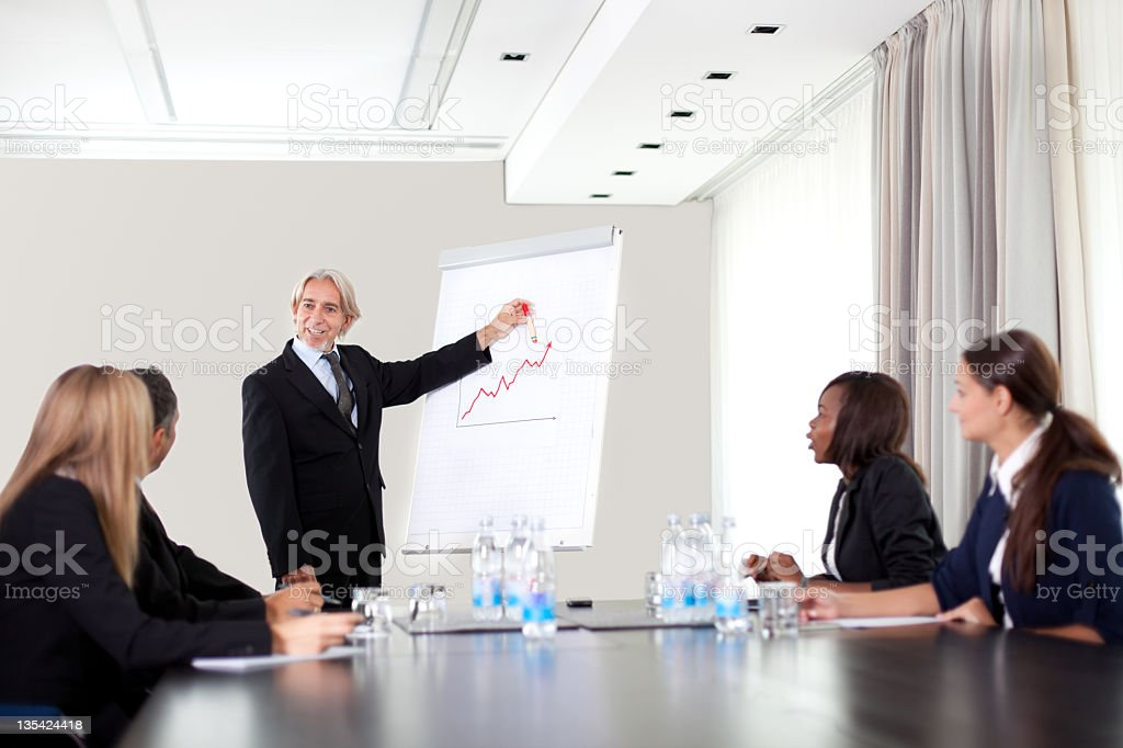 Group meeting of business people royalty-free stock photo