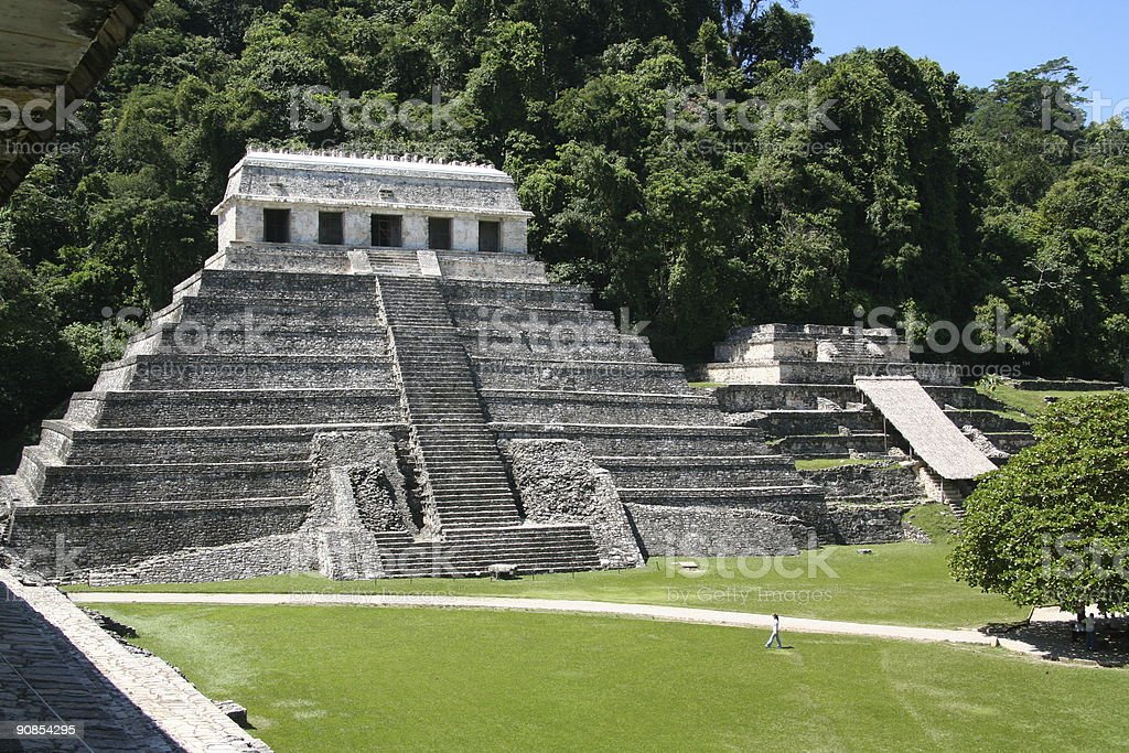 Group North Palenque Mexico maya culture stock photo