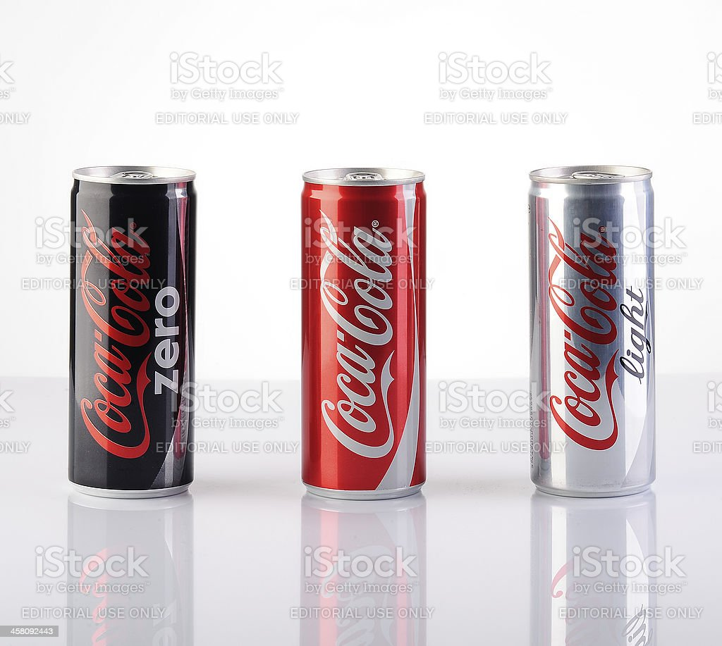 Group of 200ml Coca-Cola Cans stock photo