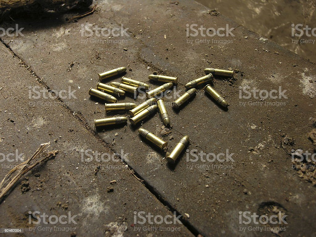 group of 22 bullets royalty-free stock photo