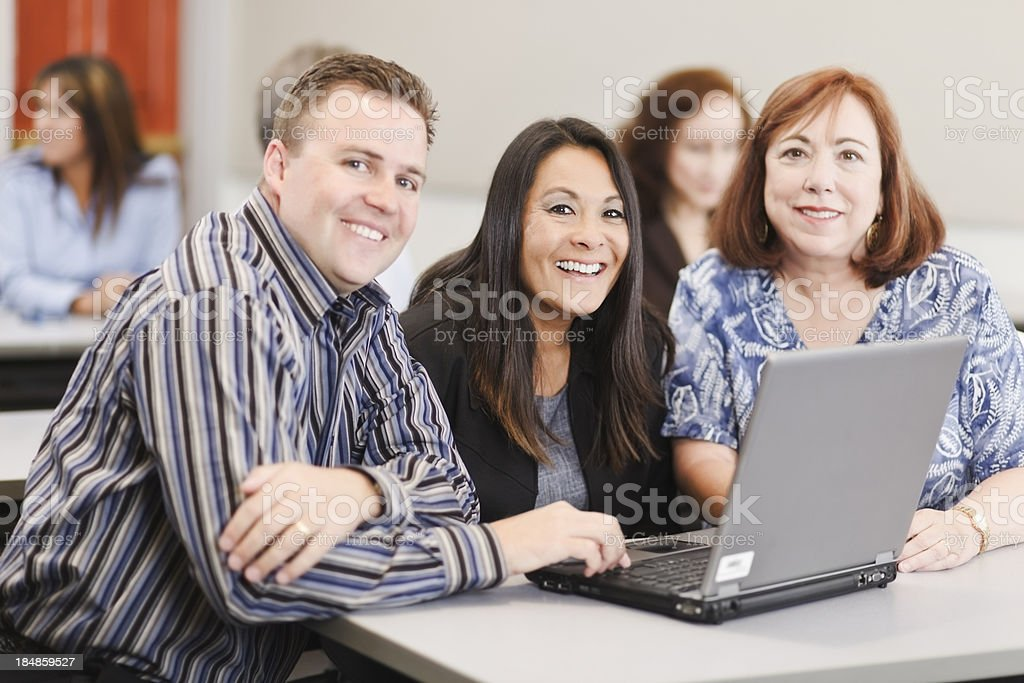 Group of Adults in a Seminar royalty-free stock photo