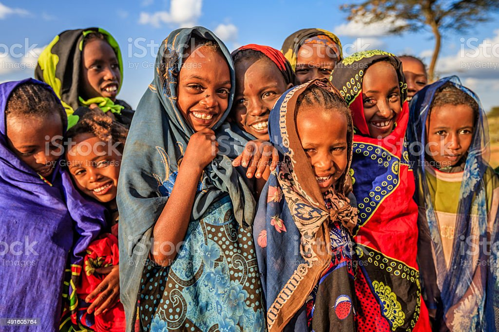 Group of African children, East Africa stock photo