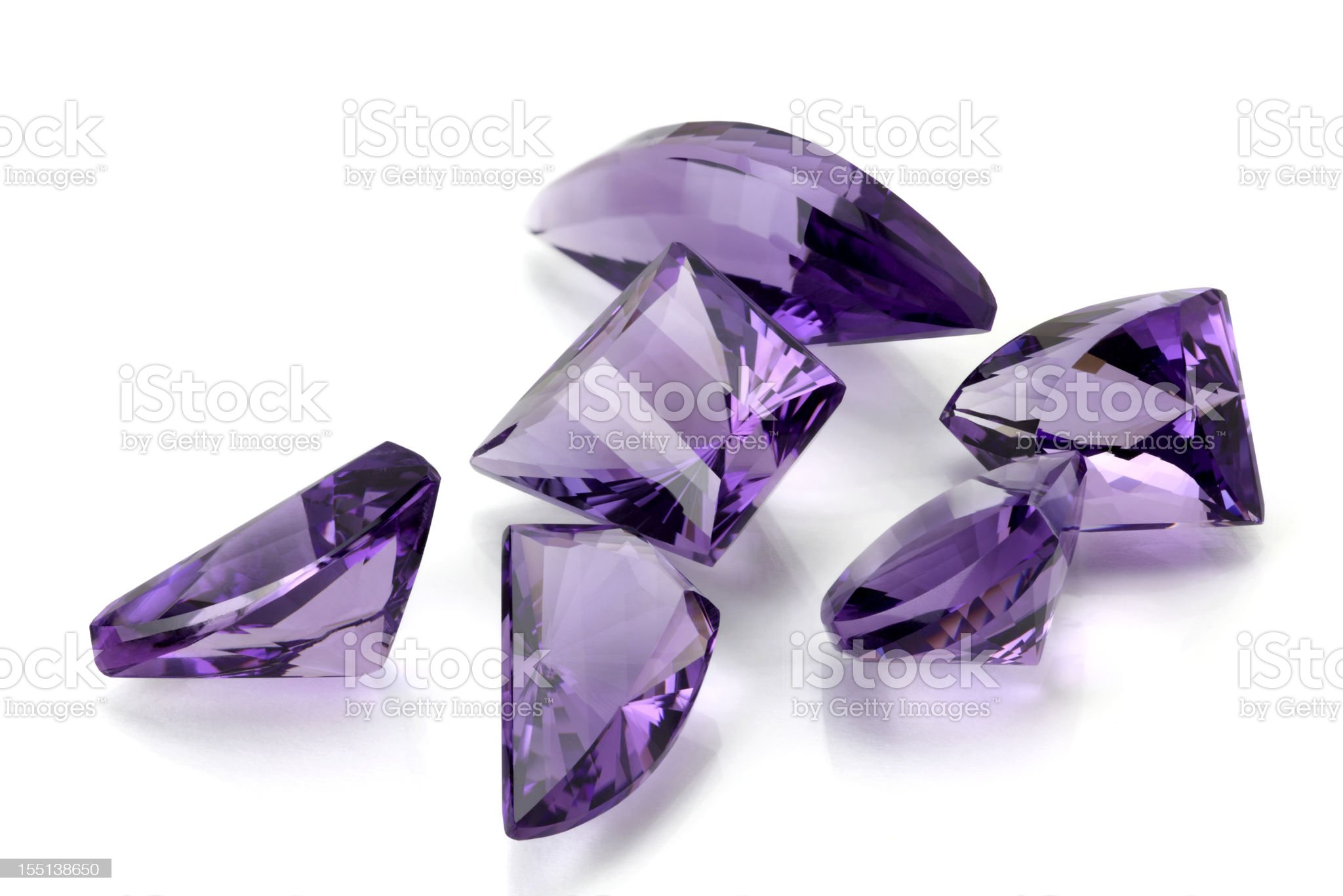 Group of Amethyst in Free Form royalty-free stock photo