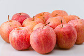 Group of apples on white background