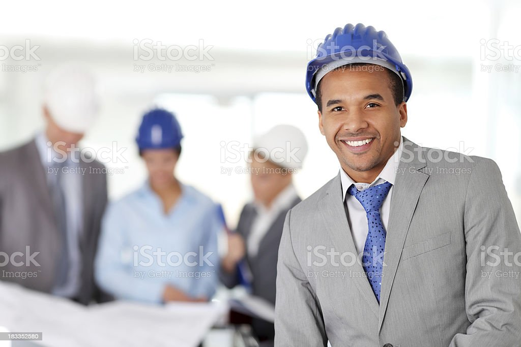 Group of architected working together. royalty-free stock photo