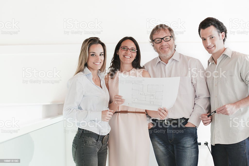 Group of architectes and designers. royalty-free stock photo