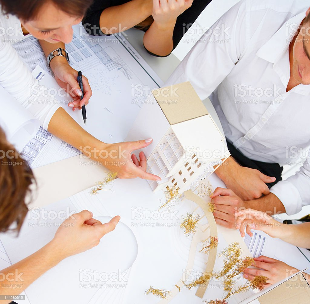 Group of architects in an office royalty-free stock photo