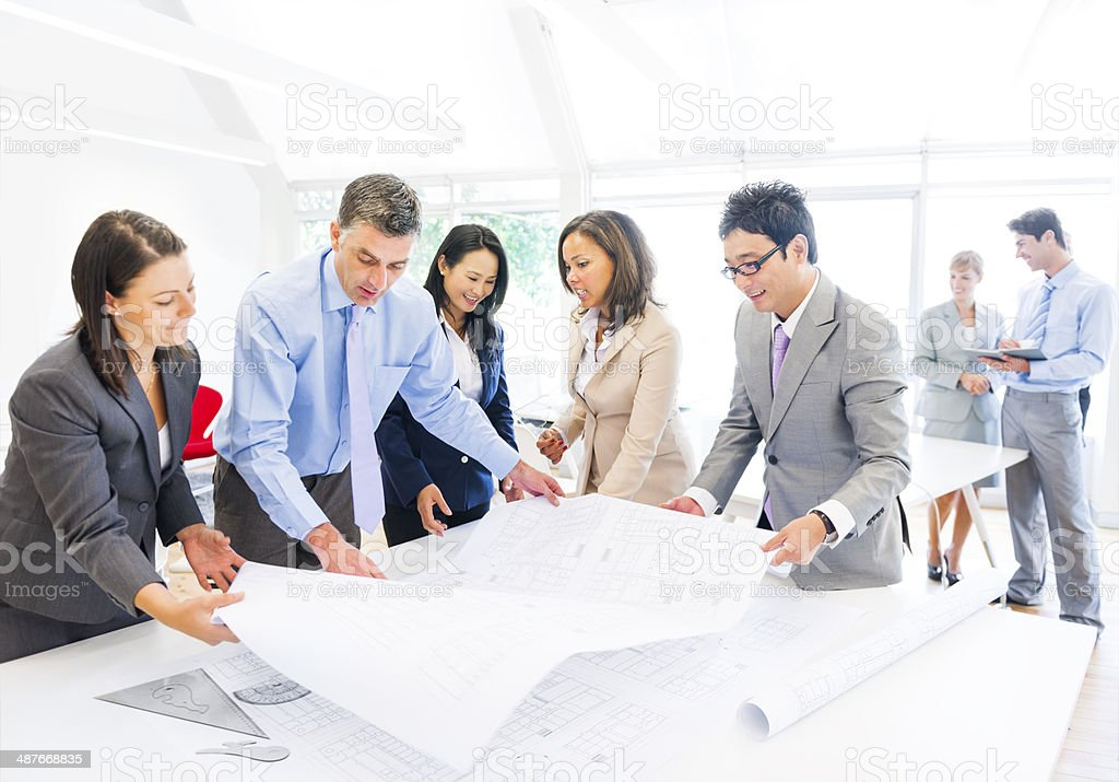 Group of Architects Planning on a New Project stock photo