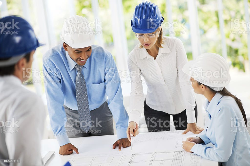 Group of architects working on a project. royalty-free stock photo