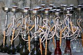 Group of argileh tobacco water-pipes