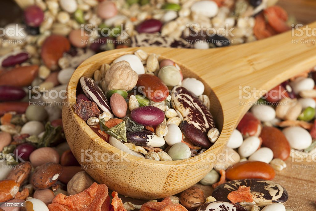 Group of Assorted Dry Beans royalty-free stock photo