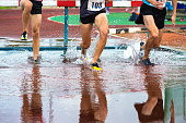 Group of Athletes at 3000 Metres Steeplechase