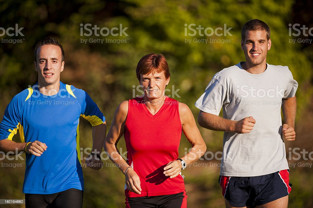 Group of  athletes jogging royalty-free stock photo