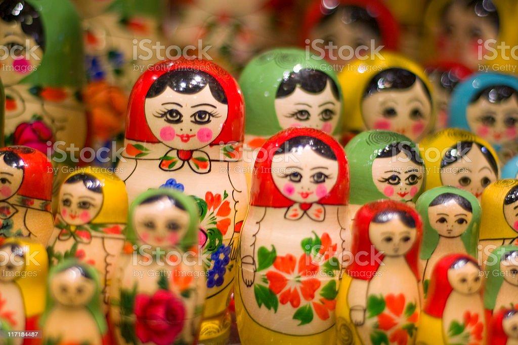 Group of Babushkas stock photo