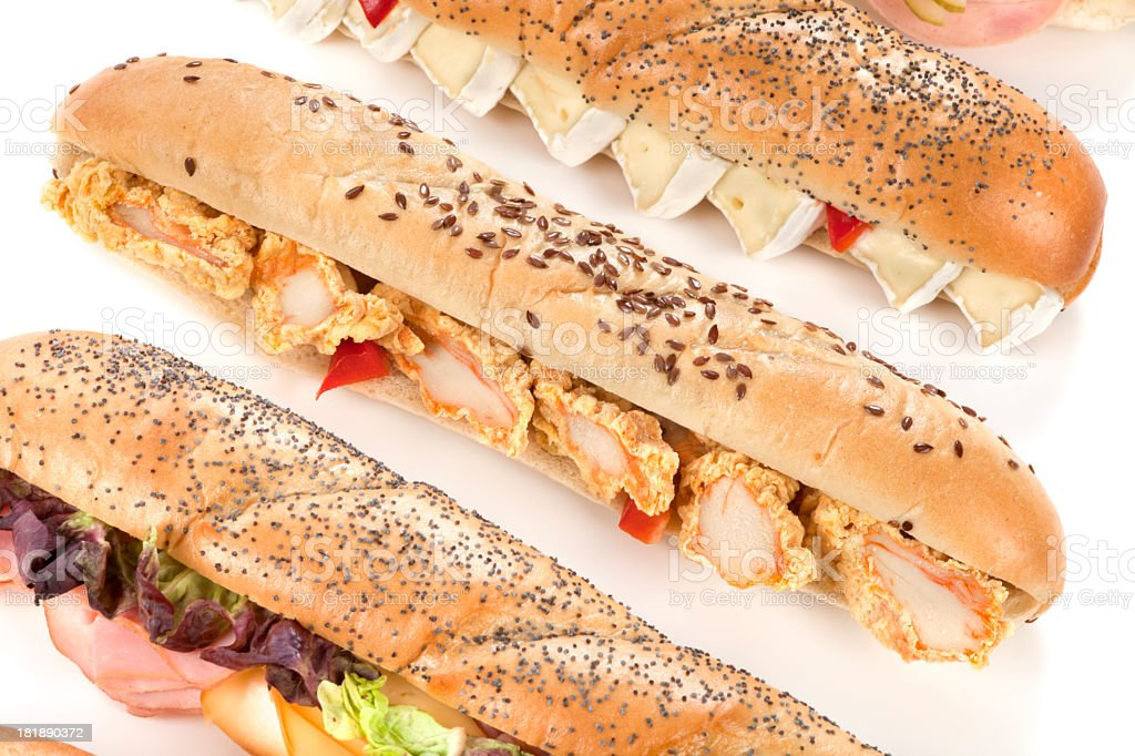 Group of baguettes royalty-free stock photo