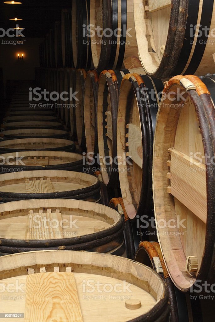 group of barrels royalty-free stock photo